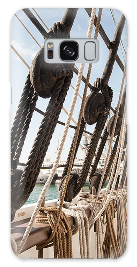 Sailing Galaxy S8 Case featuring the photograph Shrouds And Lines by Clifford Beck