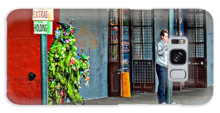 French Quarter Galaxy S8 Case featuring the photograph Shrubman On The Move by Steve Harrington