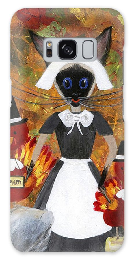 Siamese Galaxy S8 Case featuring the painting Siamese Queen Of Thanksgiving by Jamie Frier