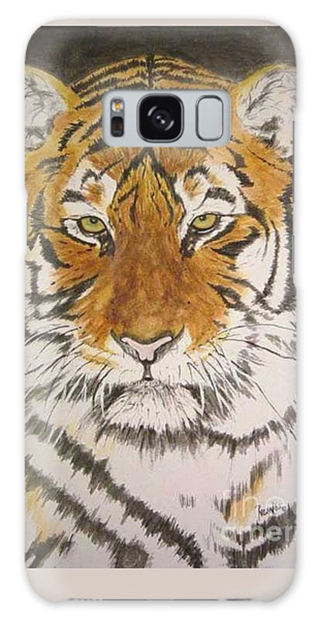 Siberian Tiger Galaxy S8 Case featuring the painting Siberian Tiger by Regan J Smith