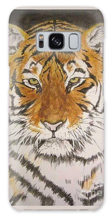 Siberian Tiger Galaxy Case featuring the painting Siberian Tiger by Regan J Smith