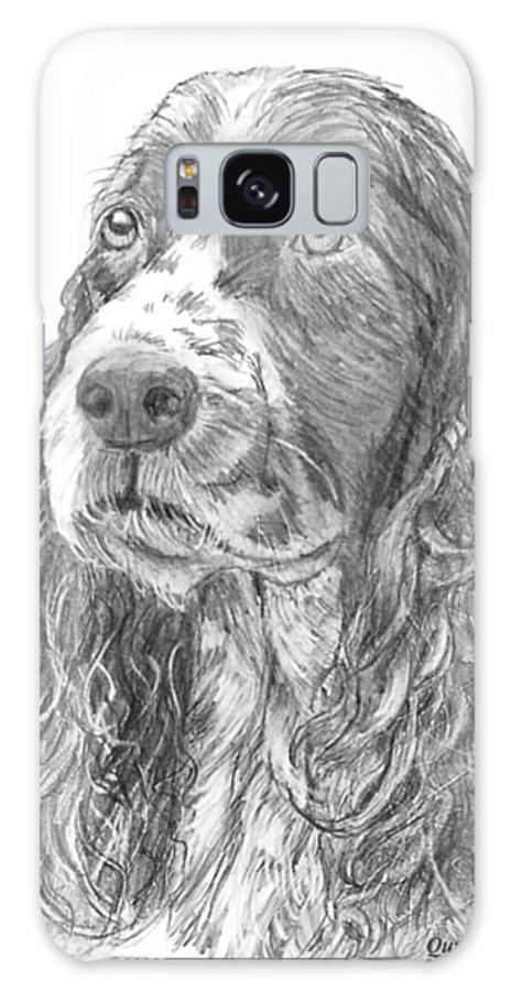 Dog Galaxy S8 Case featuring the drawing Sibley by Quwatha Valentine