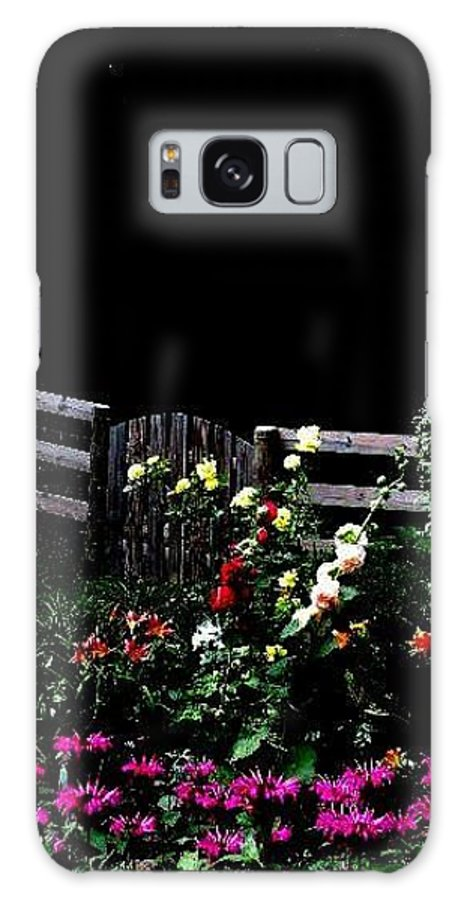 Flower Garden Galaxy S8 Case featuring the photograph Side Yard Garden by Carlee Ojeda
