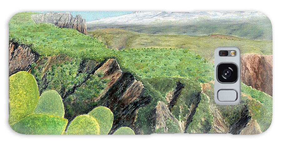Landscape Galaxy S8 Case featuring the painting Sierra De Gador by John Bray