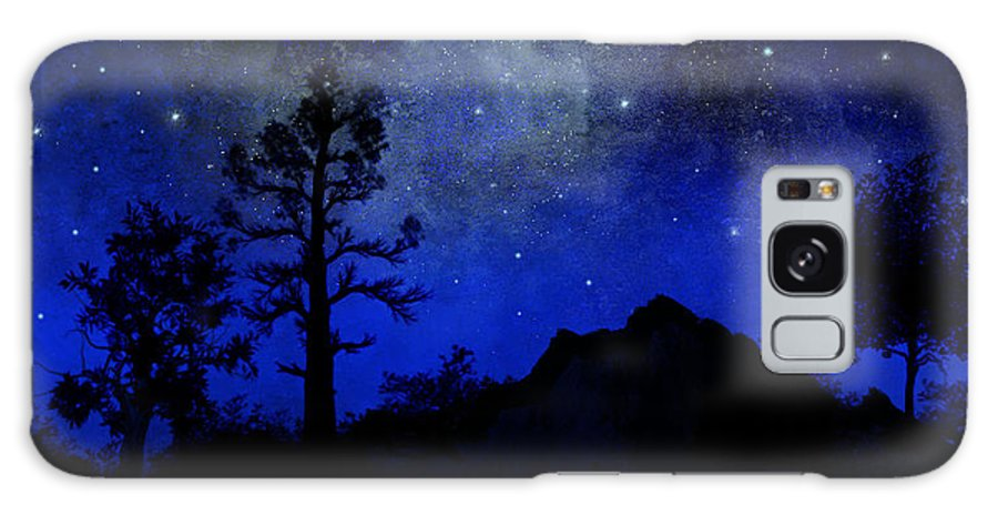 Sierra Silhouette Galaxy Case featuring the painting Sierra Silhouette Wall Mural by Frank Wilson