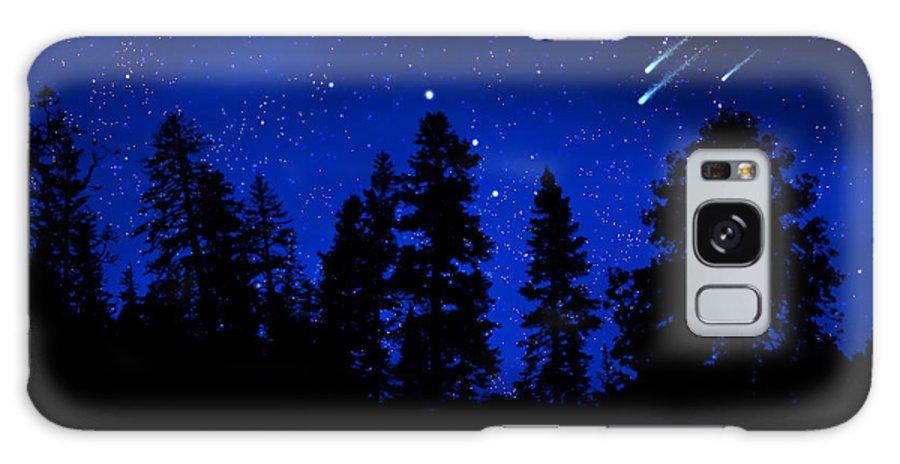 Sierra Stars Wall Mural Galaxy S8 Case featuring the painting Sierra Stars Wall Mural by Frank Wilson