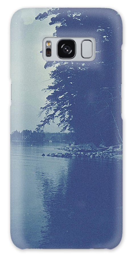 Sight Galaxy S8 Case featuring the drawing Sight Over A Lake, Anonymous by Artokoloro