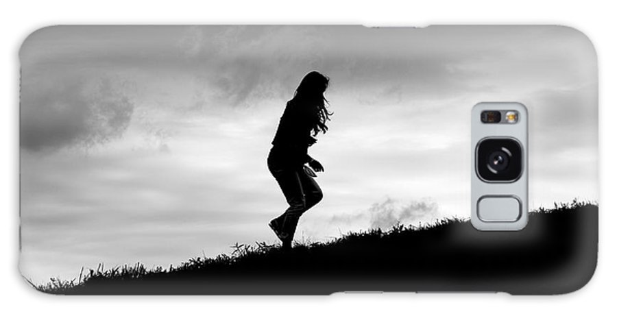 Art Galaxy S8 Case featuring the photograph Silhouette Of Girl Running by Jannis Werner