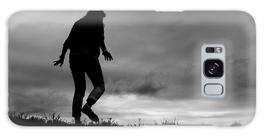 Art Galaxy S8 Case featuring the photograph Silhouette Of Girl Walking by Jannis Werner