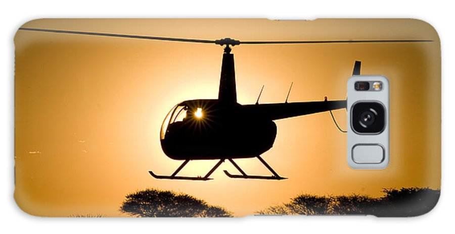 Robinson R44 Galaxy S8 Case featuring the photograph Silhouette by Paul Job