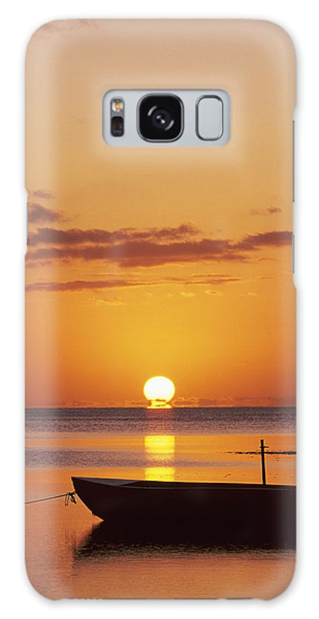 Air Art Galaxy S8 Case featuring the photograph Silhouetted Boat by John Hyde - Printscapes