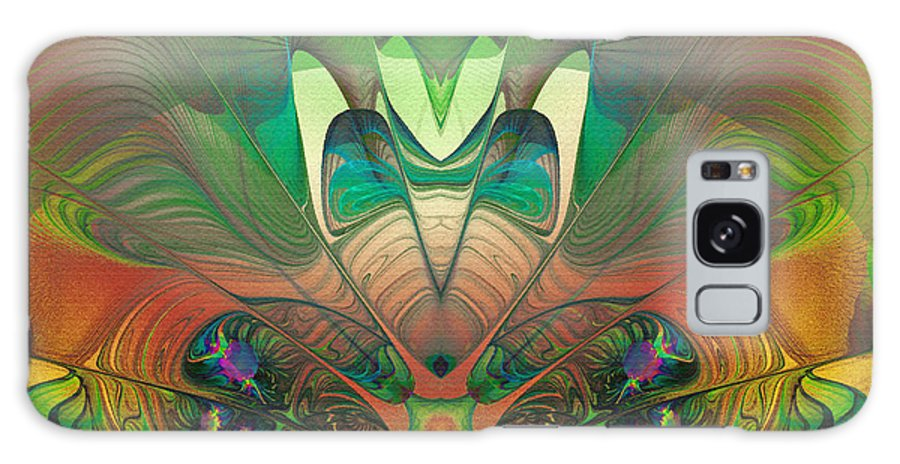 Abstract Galaxy S8 Case featuring the digital art Silk Fan - Abstract by Georgiana Romanovna