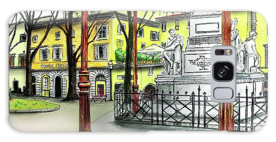 Florence Galaxy S8 Case featuring the painting Silla Hotel Piazza Demidoff Florence by Albert Puskaric