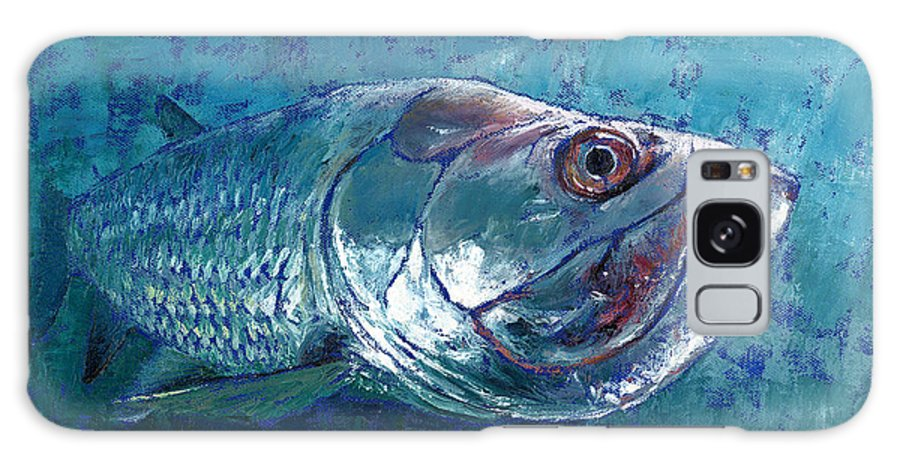 Fish Galaxy S8 Case featuring the painting Silver King Tarpon by Pam Talley