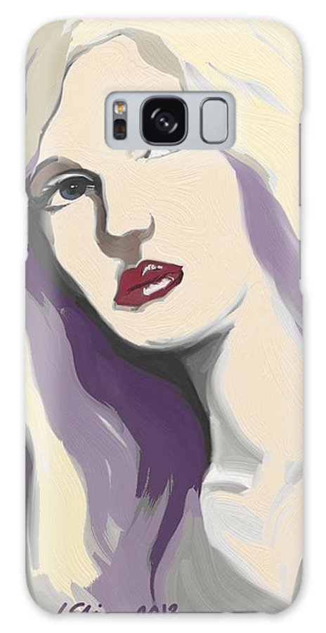 Nineteen Thirties Galaxy S8 Case featuring the painting Silver Screen Glamour Girl. by Lee Steiner