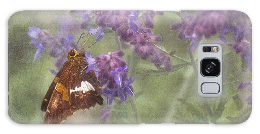Silver Spotted Skipper Galaxy S8 Case featuring the photograph Silver Spotted Skipper by Mel Hensley