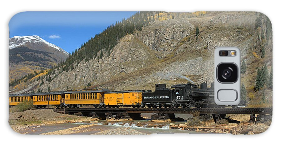 Durango Galaxy S8 Case featuring the photograph Silverton Train by Jerry McElroy