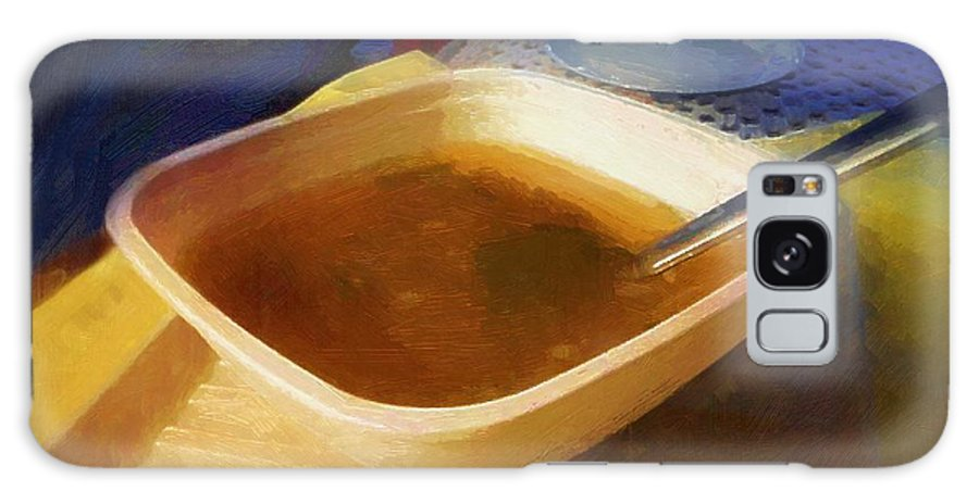Soup Galaxy S8 Case featuring the painting Simple Supper by RC DeWinter
