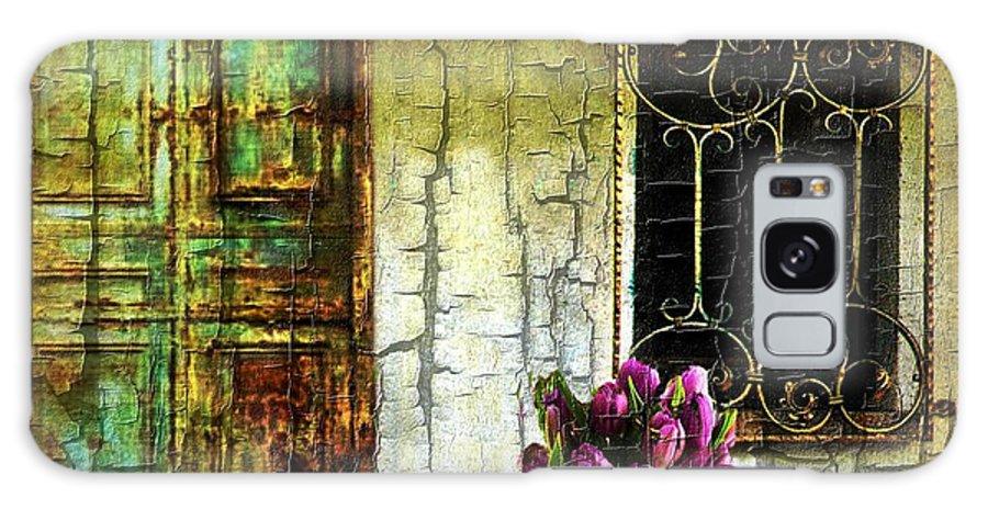Door Galaxy S8 Case featuring the digital art Simpler Times by Ellen Cannon