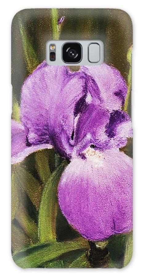 Plant Galaxy S8 Case featuring the painting Single Iris by Anastasiya Malakhova