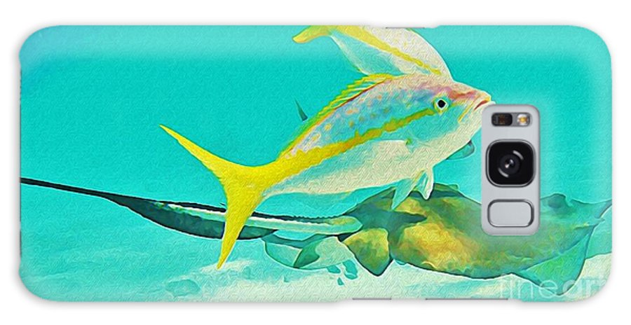 Jsm Fine Arts Galaxy S8 Case featuring the digital art Singray City Cayman Islands Three by John Malone