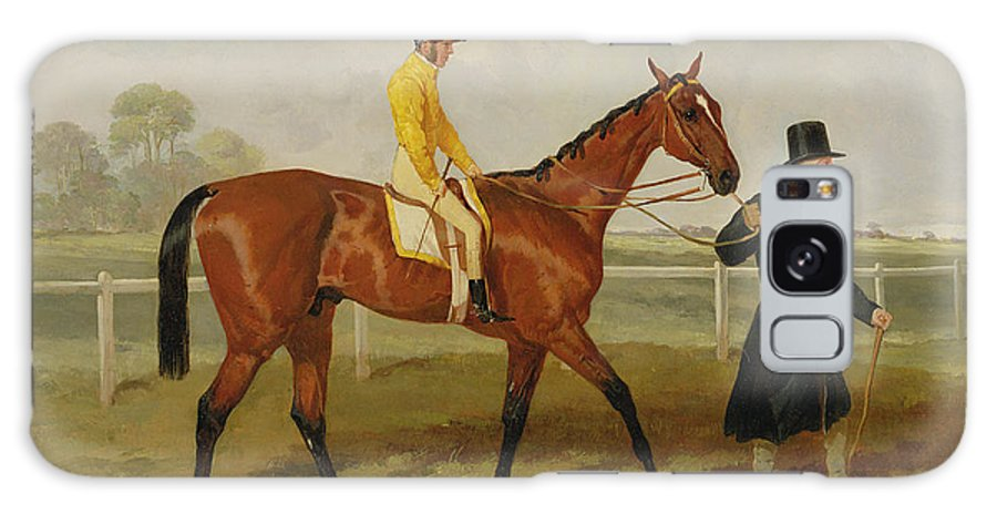 Racing Horse Galaxy S8 Case featuring the painting Sir Tatton Sykes Leading In The Horse Sir Tatton Sykes With William Scott Up by Harry Hall