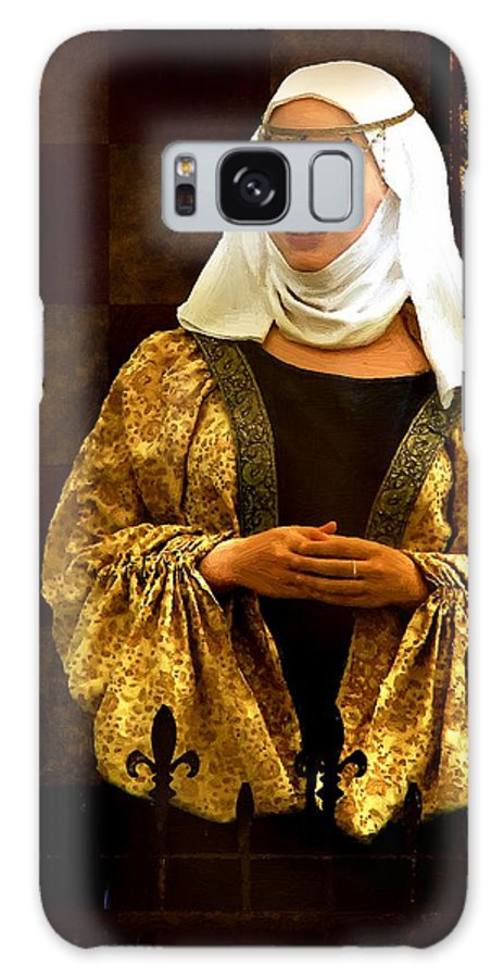 Costume Galaxy S8 Case featuring the painting Maid Marian - Sire I Kan Not Quod She by RC DeWinter
