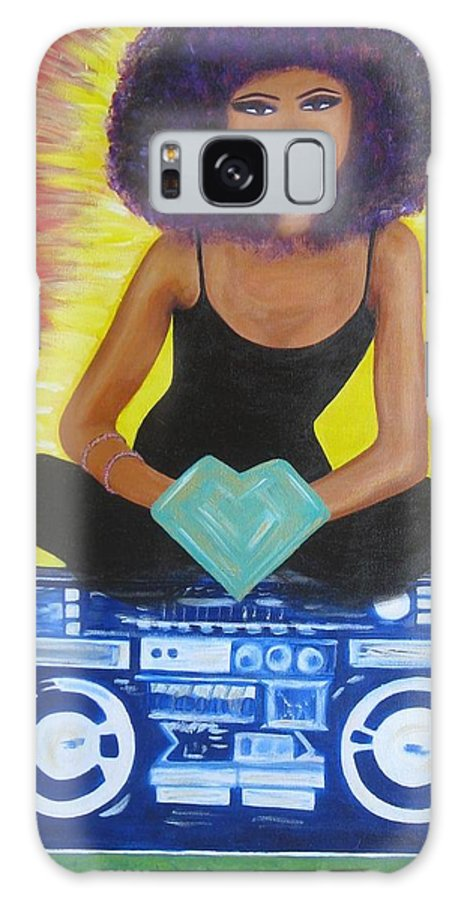 Hip Hop Galaxy S8 Case featuring the painting Sistah Queen by Elza Queen