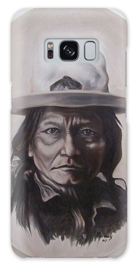 Michael Galaxy S8 Case featuring the painting Sitting Bull by Michael TMAD Finney