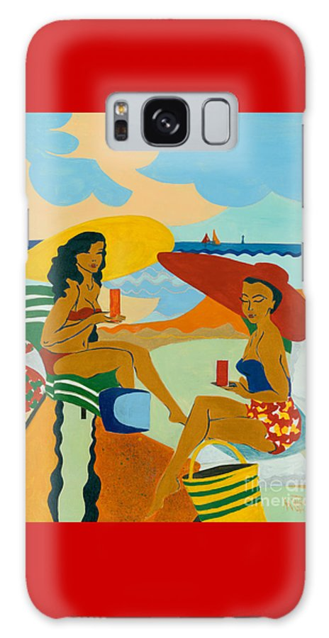 Summer Galaxy S8 Case featuring the painting Sizzling Summer by Elisabeta Hermann