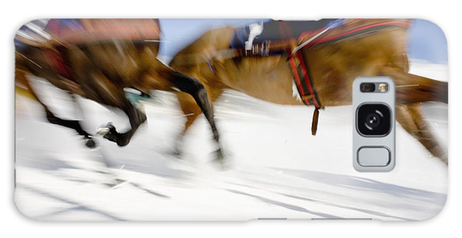 White Turf Horse Racing Galaxy S8 Case featuring the photograph Ski Joring Race by Vicki Couchman