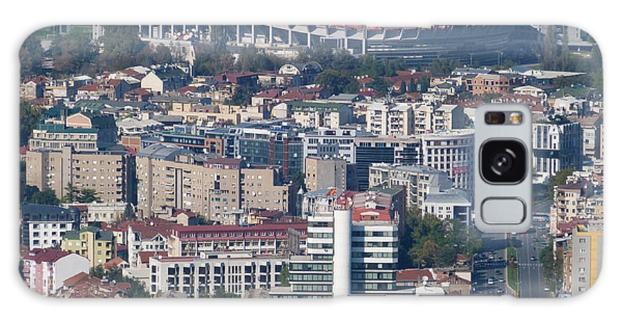 Philip Ii Of Macedonia Galaxy S8 Case featuring the photograph Skopje City And Stadium by Phil Banks