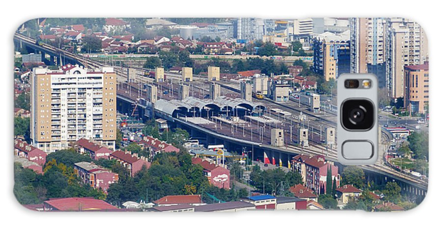 Skopje Galaxy S8 Case featuring the photograph Skopje Railway Station by Phil Banks