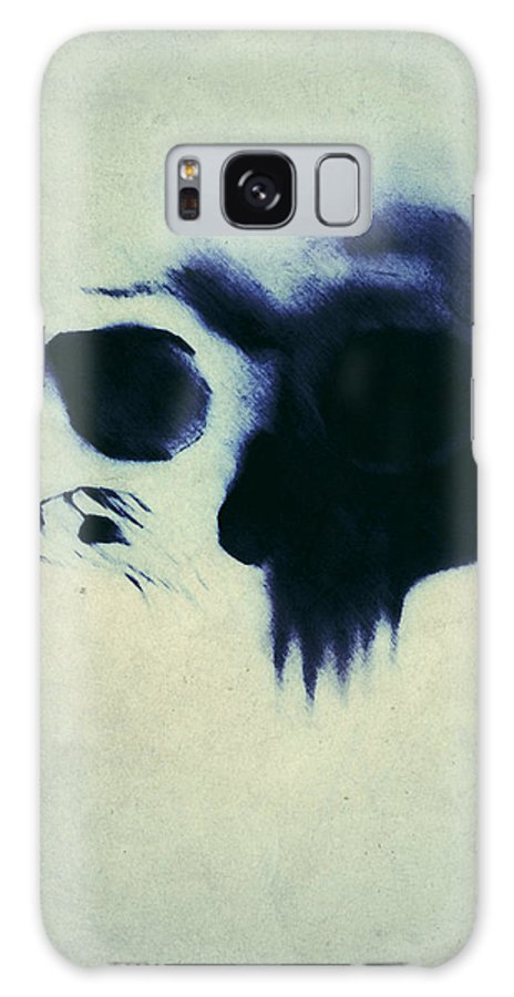 Skull Galaxy S8 Case featuring the painting Skull by Nicklas Gustafsson