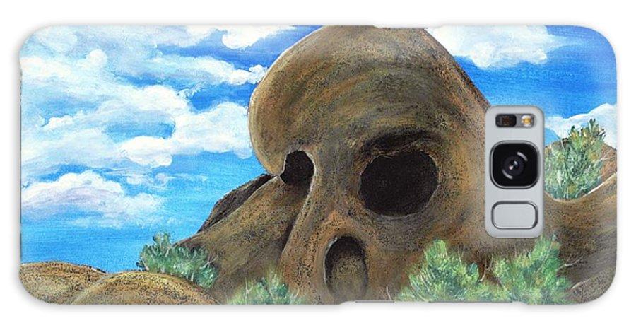 Malakhova Galaxy S8 Case featuring the painting Skull Rock by Anastasiya Malakhova
