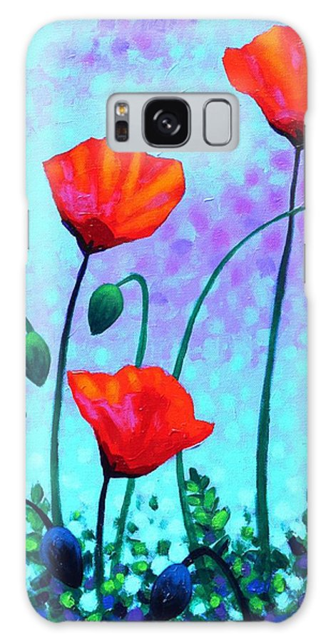 Acrylic Galaxy S8 Case featuring the painting Sky Poppies by John Nolan