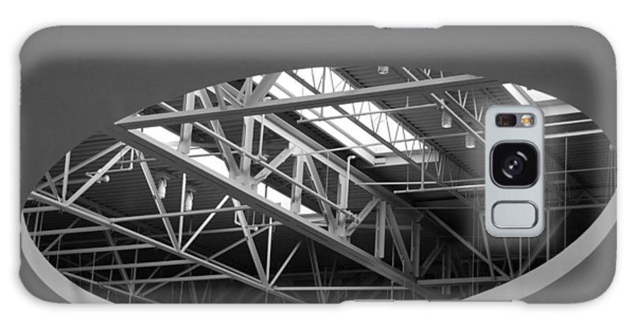 Architecture Galaxy S8 Case featuring the photograph Skylight Gurders In Black And White by Rob Hans