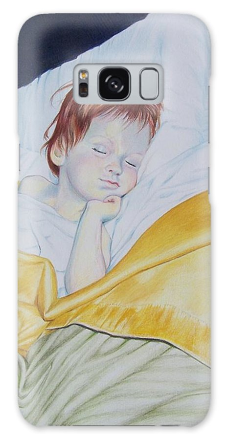 Baby Galaxy Case featuring the mixed media Sleeping Beauty by Constance Drescher