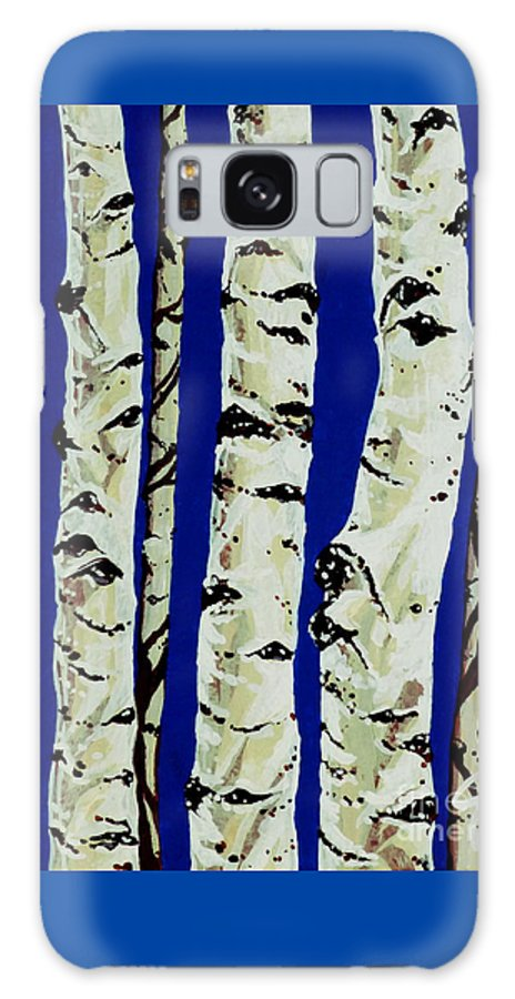 Aspen Galaxy S8 Case featuring the painting Sleeping Giants by Jackie Carpenter