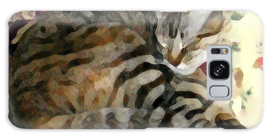 Tabby Cat Galaxy S8 Case featuring the photograph Sleeping Tabby by Jeanne A Martin