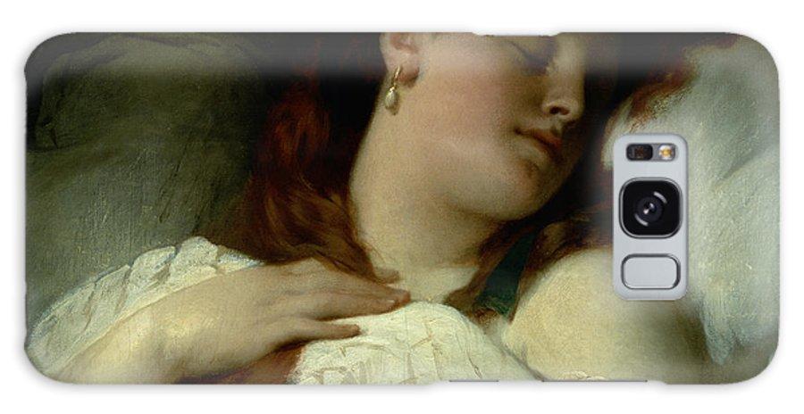 Earring Galaxy S8 Case featuring the photograph Sleeping Woman by Sandor Liezen-Meyer