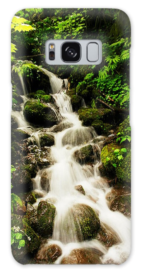 Rivers Galaxy S8 Case featuring the photograph Sliding Over The Rocks by Jeff Swan