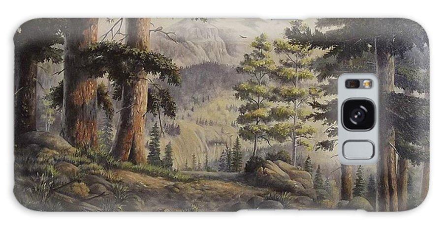Slumgullian Mountain Colo. Galaxy S8 Case featuring the painting Slumgullian Pass by Wanda Dansereau