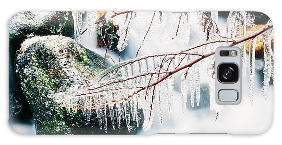 Beautiful Galaxy S8 Case featuring the photograph Small Creek Freezing Up Forming Icicles by Stephan Pietzko