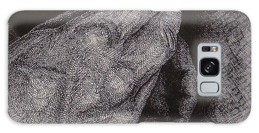 Figurative Galaxy Case featuring the drawing Smoke Number 2 by Denis Gloudeman