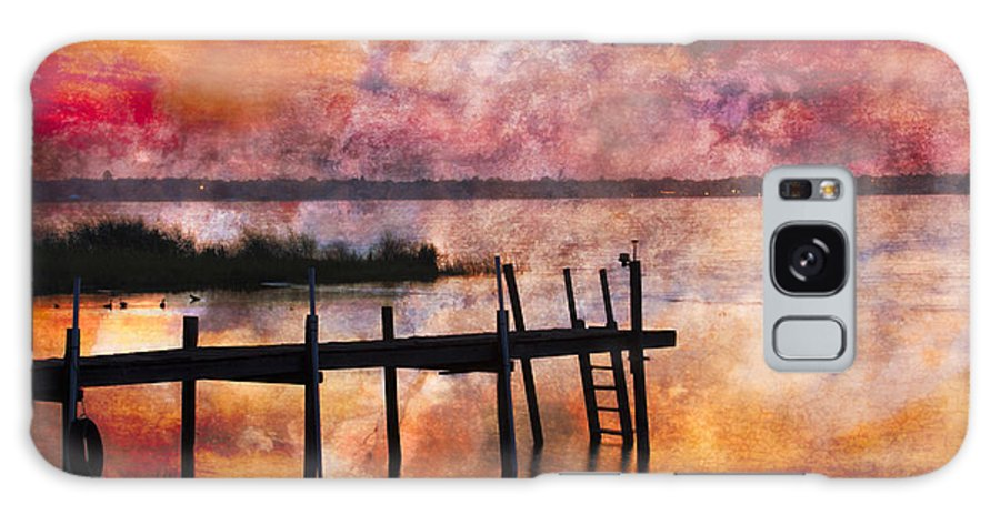 Boats Galaxy S8 Case featuring the photograph Smoldering Sunrise by Debra and Dave Vanderlaan