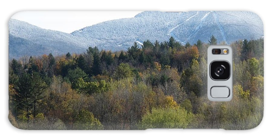Mountain Galaxy S8 Case featuring the photograph Smugglers Notch From Cambridge Vermont by Barbara McDevitt