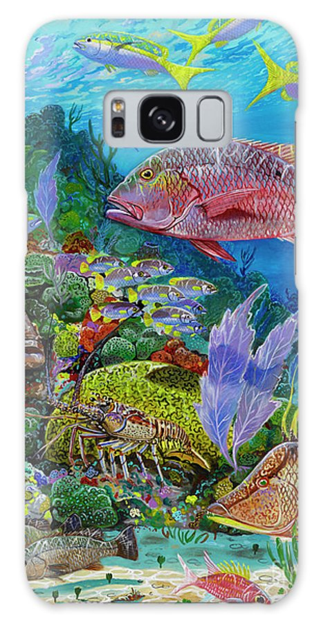 Snapper Galaxy S8 Case featuring the painting Snapper Reef Re0028 by Carey Chen