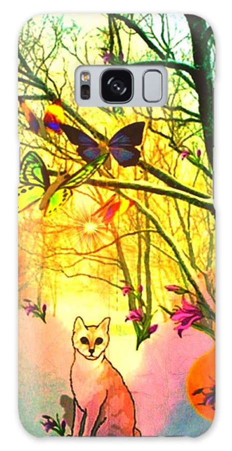 Butterfly Galaxy S8 Case featuring the digital art Snow And Butterfly Dreams by Mary Anne Ritchie