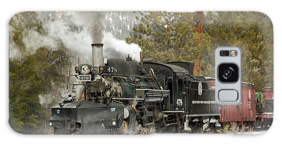 Steam Train Galaxy S8 Case featuring the photograph Snow And Steam by Ken Smith